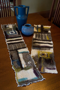 Nuno Felted Table Runner